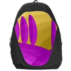 Yellow and magenta landscape Backpack Bag