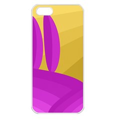 Yellow and magenta landscape Apple iPhone 5 Seamless Case (White)
