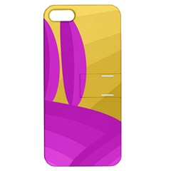 Yellow and magenta landscape Apple iPhone 5 Hardshell Case with Stand