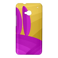 Yellow and magenta landscape HTC One M7 Hardshell Case