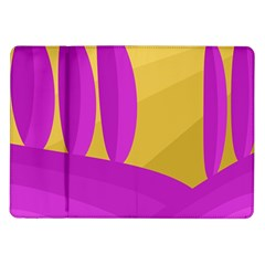 Yellow and magenta landscape Samsung Galaxy Tab 10.1  P7500 Flip Case
