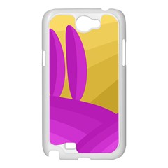 Yellow and magenta landscape Samsung Galaxy Note 2 Case (White)