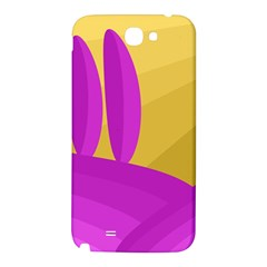 Yellow and magenta landscape Samsung Note 2 N7100 Hardshell Back Case