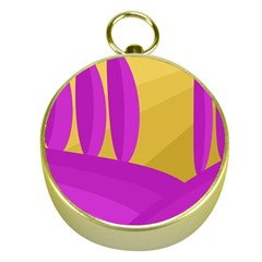Yellow and magenta landscape Gold Compasses