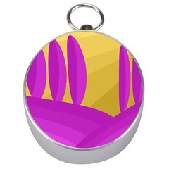 Yellow and magenta landscape Silver Compasses