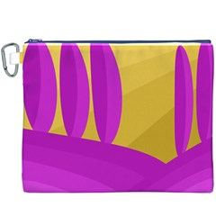 Yellow and magenta landscape Canvas Cosmetic Bag (XXXL)