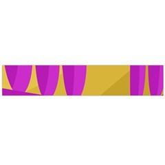 Yellow and magenta landscape Flano Scarf (Large)