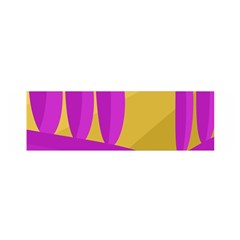 Yellow and magenta landscape Satin Scarf (Oblong)