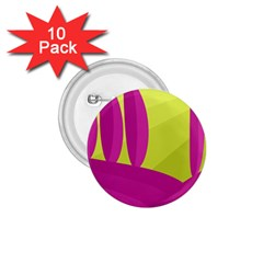 Yellow and pink landscape 1.75  Buttons (10 pack)