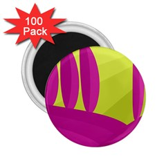 Yellow and pink landscape 2.25  Magnets (100 pack)