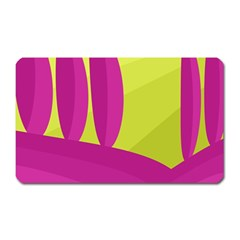Yellow and pink landscape Magnet (Rectangular)