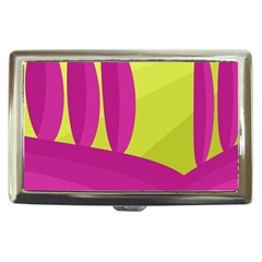 Yellow and pink landscape Cigarette Money Cases