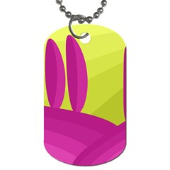 Yellow and pink landscape Dog Tag (Two Sides)