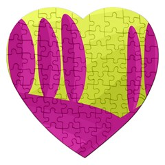 Yellow and pink landscape Jigsaw Puzzle (Heart)