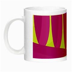 Yellow and pink landscape Night Luminous Mugs