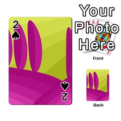 Yellow and pink landscape Playing Cards 54 Designs