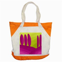 Yellow and pink landscape Accent Tote Bag