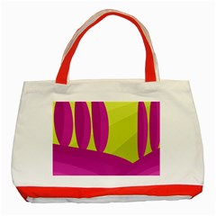 Yellow and pink landscape Classic Tote Bag (Red)