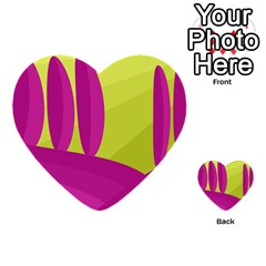 Yellow and pink landscape Multi-purpose Cards (Heart)