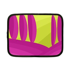 Yellow and pink landscape Netbook Case (Small)