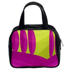 Yellow and pink landscape Classic Handbags (2 Sides)