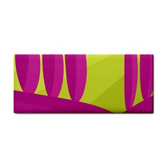 Yellow and pink landscape Hand Towel