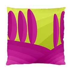 Yellow and pink landscape Standard Cushion Case (Two Sides)