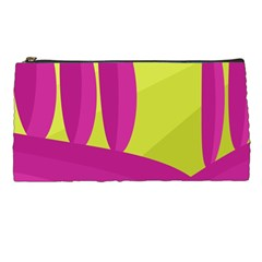 Yellow and pink landscape Pencil Cases