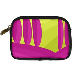 Yellow and pink landscape Digital Camera Cases
