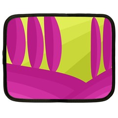 Yellow and pink landscape Netbook Case (XL)