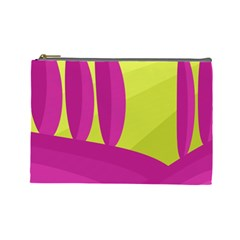 Yellow and pink landscape Cosmetic Bag (Large)