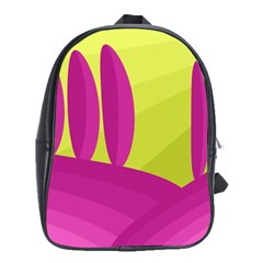 Yellow and pink landscape School Bags(Large)