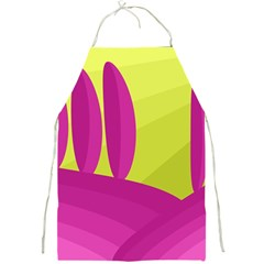 Yellow and pink landscape Full Print Aprons