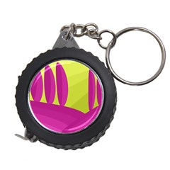 Yellow and pink landscape Measuring Tapes