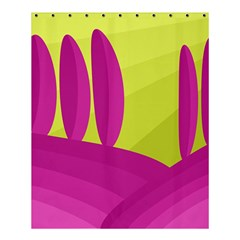 Yellow and pink landscape Shower Curtain 60  x 72  (Medium)