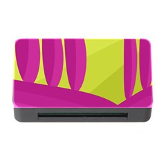 Yellow and pink landscape Memory Card Reader with CF