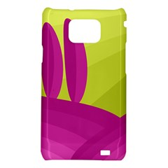 Yellow and pink landscape Samsung Galaxy S2 i9100 Hardshell Case