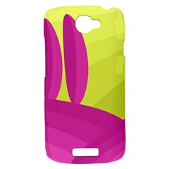 Yellow and pink landscape HTC One S Hardshell Case