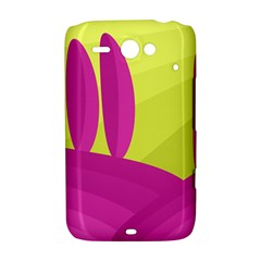 Yellow and pink landscape HTC ChaCha / HTC Status Hardshell Case