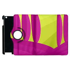 Yellow and pink landscape Apple iPad 3/4 Flip 360 Case