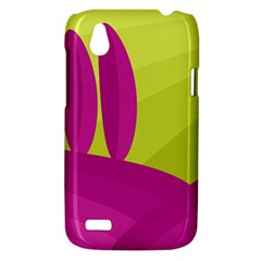 Yellow and pink landscape HTC Desire V (T328W) Hardshell Case