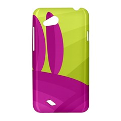 Yellow and pink landscape HTC Desire VC (T328D) Hardshell Case