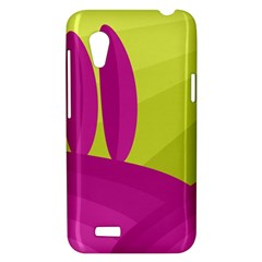 Yellow and pink landscape HTC Desire VT (T328T) Hardshell Case