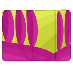 Yellow and pink landscape Samsung Galaxy Tab 7  P1000 Flip Case