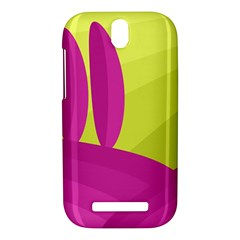 Yellow and pink landscape HTC One SV Hardshell Case