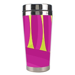 Yellow and pink landscape Stainless Steel Travel Tumblers