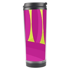 Yellow and pink landscape Travel Tumbler