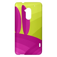 Yellow and pink landscape HTC One Max (T6) Hardshell Case
