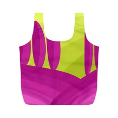 Yellow and pink landscape Full Print Recycle Bags (M)