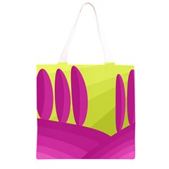 Yellow and pink landscape Grocery Light Tote Bag